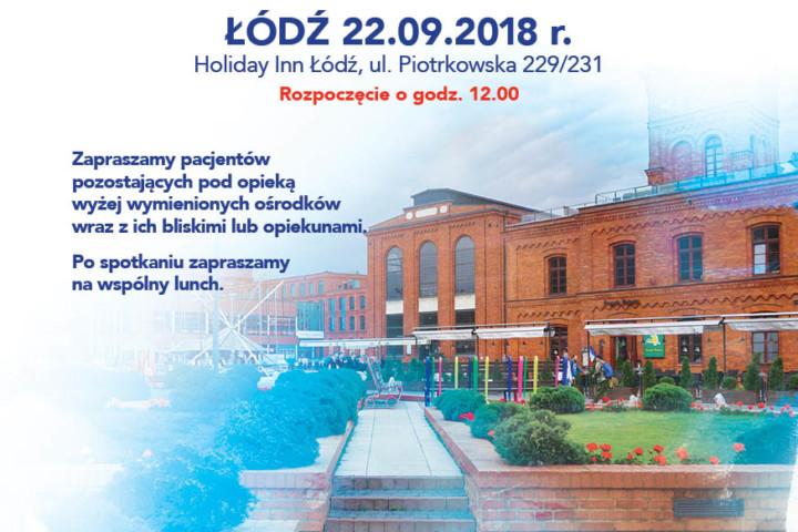 Spotkanie z pacjentami w Łodzi
