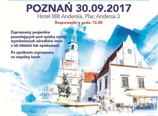 Poznań 30.09.2017 – warsztaty dla chorych
