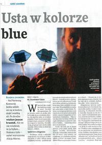 usta wkolorze blues